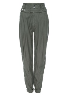 FRAME Twist Seam Belted Tapered Trousers