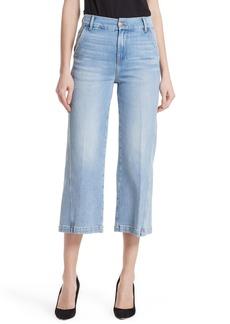 FRAME Twist Seam Crop Wide Leg Jeans (Turner)