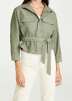 FRAME Twisted Shirt Jacket