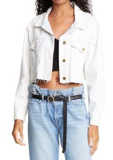 FRAME Ultra Crop Denim Jacket