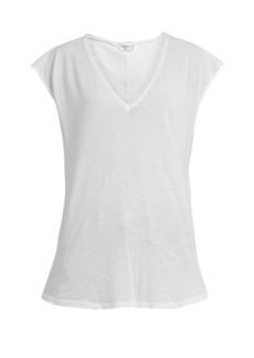 Frame V-neck cotton-jersey T-shirt