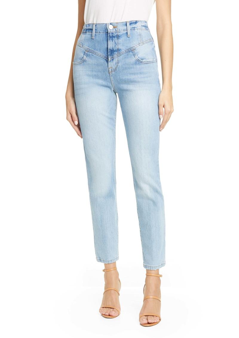 FRAME V-Yoke Straight Leg Jeans (Waverly)
