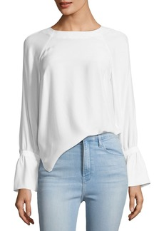 FRAME Voluminous-Cuff Silk Blouse