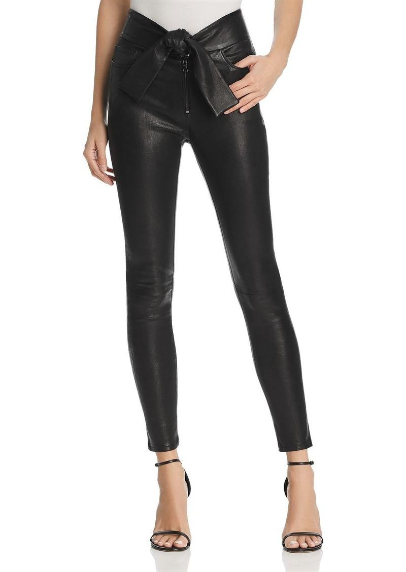 e75dab4d6a On Sale today! FRAME FRAME Waist-Tie Skinny Leather Pants