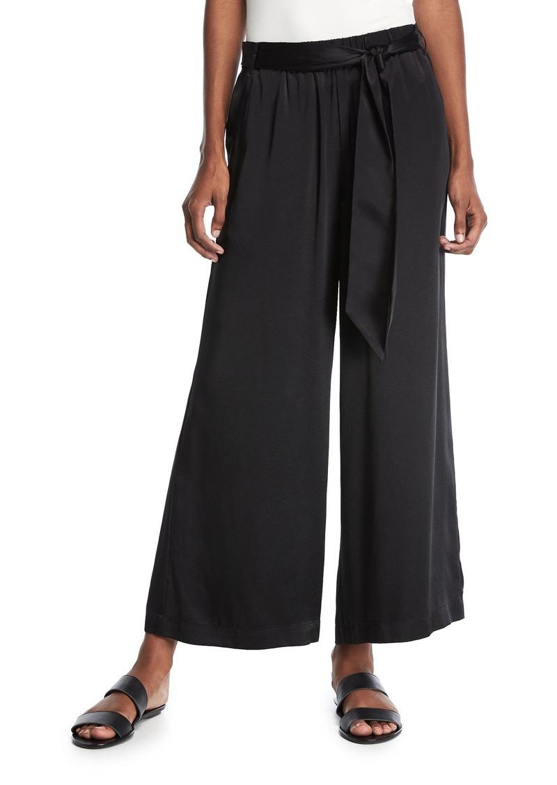 82e6b973fbe3 FRAME FRAME Wide-Leg Cropped Easy Silk Pants