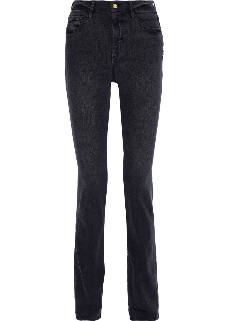 Frame Woman Le Mini Boot High-rise Bootcut Jeans Charcoal