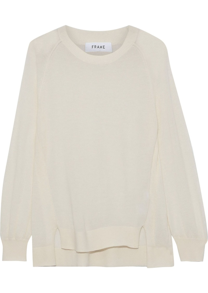 Frame Woman Cashmere Sweater Ecru