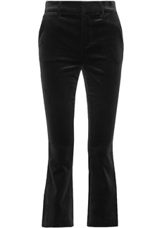 Frame Woman Velvet Kick-flare Pants Black