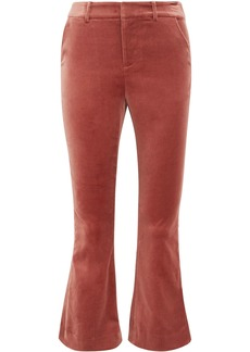 Frame Woman Velvet Kick-flare Pants Antique Rose