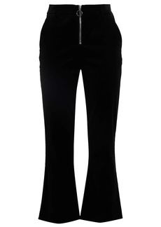 Frame Woman Cotton-blend Velvet Bootcut Pants Black