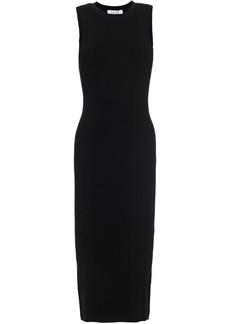Frame Woman Cutout Ribbed-knit Midi Dress Black