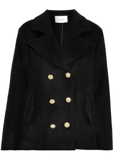 Frame Woman Double-breasted Wool-felt Coat Black