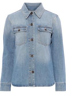 Frame Woman Faded Denim Shirt Light Denim