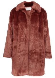 Frame Woman Faux Fur Coat Brick