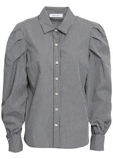 Frame Woman Gingham Cotton-poplin Shirt Black