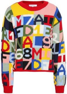 Frame Woman Intarsia Cotton-blend Sweater Multicolor