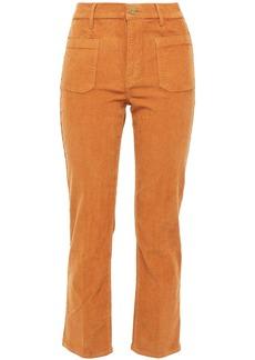Frame Woman Le Cord Bardot Cropped Cotton-blend Corduroy Slim-leg Pants Light Brown