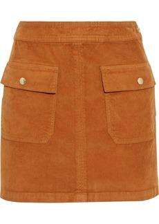 Frame Woman Le Cord Bardot Stretch-cotton Corduroy Mini Skirt Camel