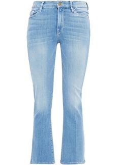 Frame Woman Le Crop Mini Boot Mid-rise Kick-flare Jeans Light Denim