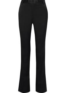 Frame Woman Le Mini Boot Satin Bootcut Pants Black
