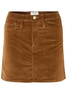 Frame Woman Le Mini Stretch Cotton-blend Corduroy Mini Skirt Brown