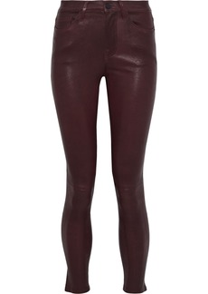 Frame Woman Le Skinny Stretch-leather Pants Burgundy