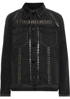 Frame Woman Le Studded Denim Jacket Black