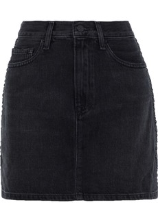 Frame Woman Le Studded Denim Mini Skirt Black