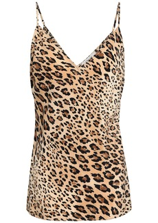 Frame Woman Leopard-print Silk Camisole Animal Print