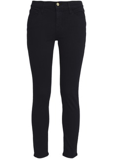 Frame Woman Le Skinny Jeanne Crop Mid-rise Skinny Jeans Black