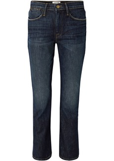 Frame Woman Mid-rise Straight-leg Jeans Dark Denim