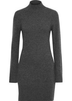 Frame Woman Mélange Cashmere Turtleneck Mini Dress Gray