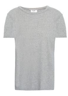 Frame Woman Mélange Cotton-jersey T-shirt Stone