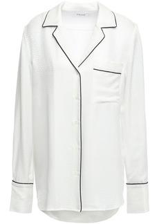 Frame Woman Satin-jacquard Shirt Ivory