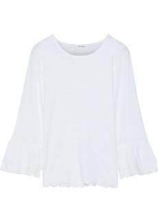 Frame Woman Slub Linen-jersey Top White