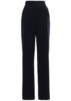 Frame Woman Striped Cotton-blend Corduroy Wide-leg Pants Navy