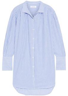 Frame Woman Striped Cotton-gauze Mini Shirt Dress Light Blue