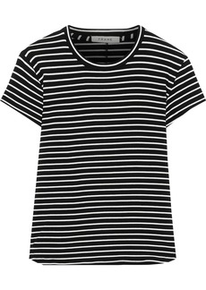 Frame Woman Striped Stretch-jersey T-shirt Black