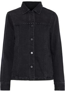 Frame Woman Studded Denim Jacket Black