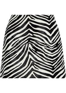 Frame Woman Zebra-print Calf Hair Mini Skirt Black