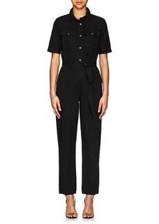 FRAME Women's Cotton-Linen Belted Jumpsuit