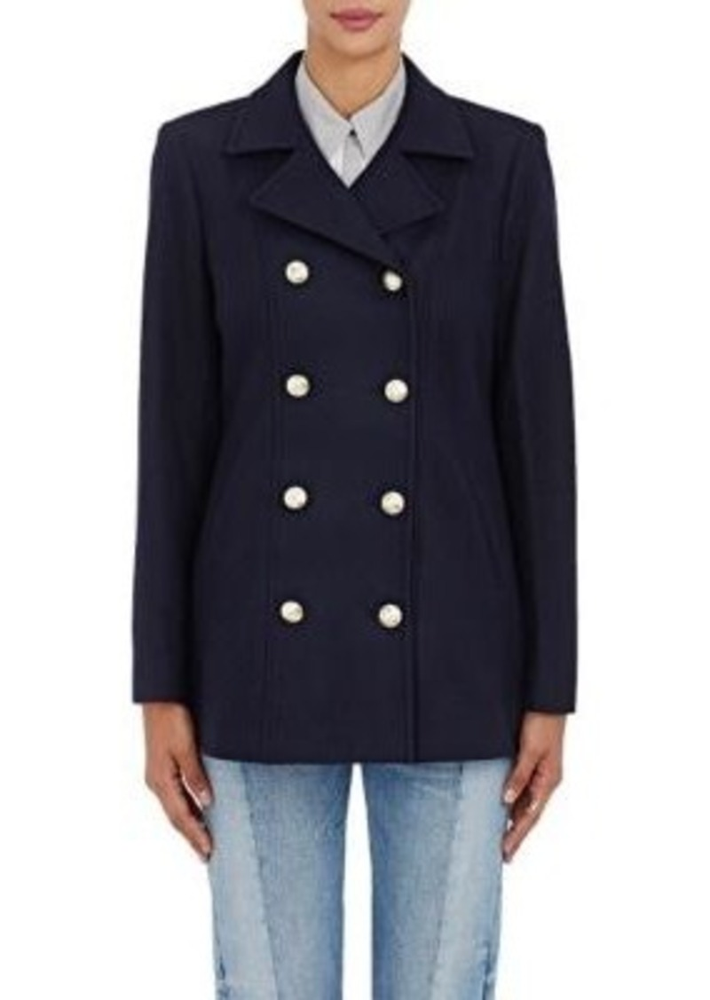 FRAME Women's Double-Breasted Wool Peacoat