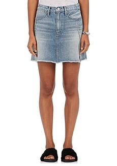 FRAME Women's Le High Zip-Vent Denim Miniskirt