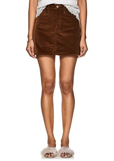 FRAME Women's Le Mini Cotton Corduroy Skirt