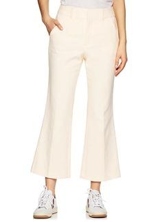 FRAME Women's Linen-Cotton Flared Trousers