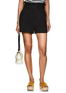 FRAME Women's Linen High-Rise Paperbag-Waist Shorts