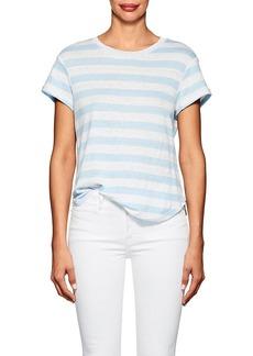 FRAME Women's Striped Linen T-Shirt