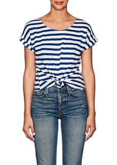 FRAME Women's Striped Linen T-Shirt