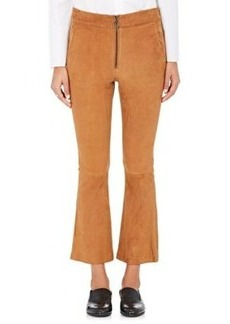 FRAME Women's Suede Crop Flared Trousers