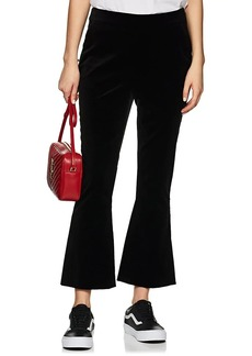 FRAME Women's Velvet High-Rise Slit Pants